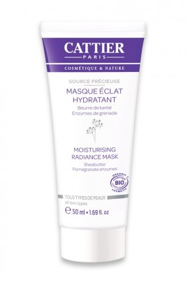 "Organic Moisturizing Radiance Mask ""Source Délicieuse"" Cattier"