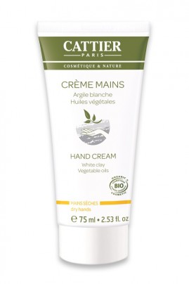 Organic Hand Cream With White Clay Cattier