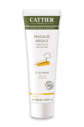 Organic Face Mask Yellow Clay - Dry Skin - Cattier