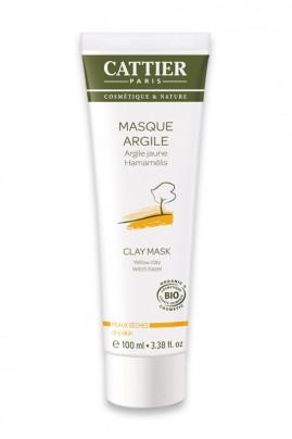 Masque Bio Argile Jaune - Peaux Sèches - Cattier