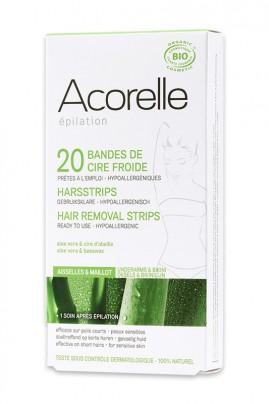 Organic Hair Removal Strips - Armpits Bikini Line - Acorelle
