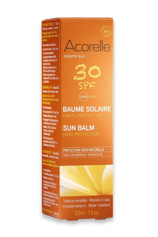 Organic Sunscreen Face Balm Spf 30 High Protection