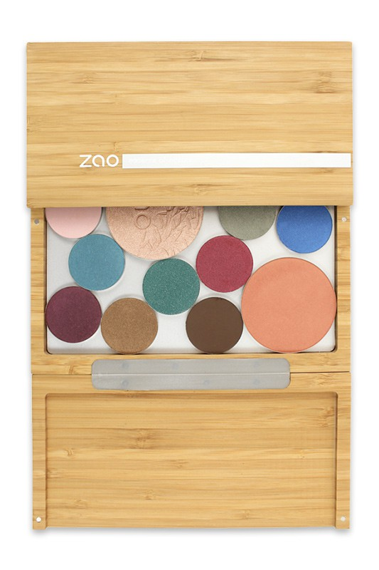 grande palette de maquillage bamboo box vide zao ayanature. Black Bedroom Furniture Sets. Home Design Ideas