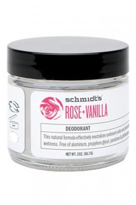Vegan Deodorant - Rose & Vanilla - Schmidt's
