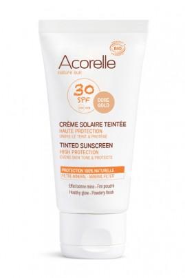 Crème Solaire Bio Teintée Visage - SPF 30 Haute Protection - Acorelle