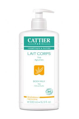 Lait Corps Bio Hydratant & Régénérant - Thé & Agrumes - Cattier