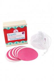 Coffret 10 Lingettes Démaquillantes & Lavables pour Make-up - Lamazuna