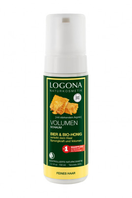 Organic Beer & Honey Volume Mousse - Fine Hair - Logona