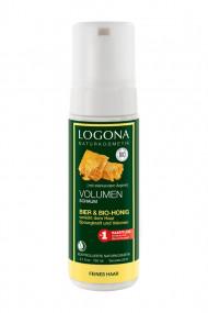 Mousse Volume Bière & Miel bio - Cheveux fins - Logona