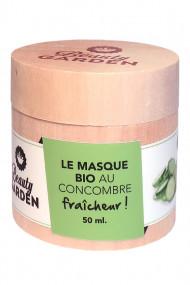 Masque Bio Fraîcheur Visage - Concombre - Beauty Garden