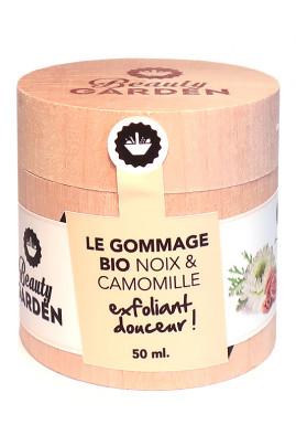 Gommage Bio Visage - Noix & Camomille - Beauty Garden