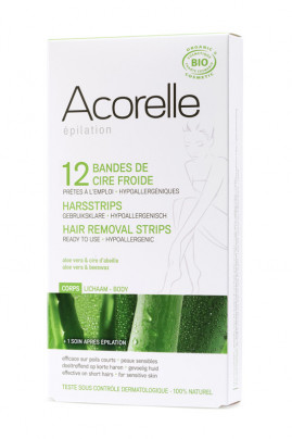Organic Hair Removal Strips - Body - Acorelle