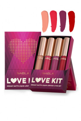 Rouge à Lèvres Liquide Vegan - Kit Love - Nabla