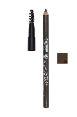 Crayon Sourcils Bio Vegan avec Brosse - Purobio