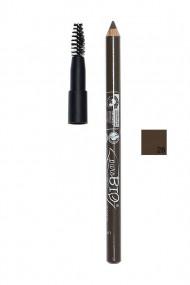 Crayon Sourcils Bio Vegan avec Brosse 28 Sombre - Purobio