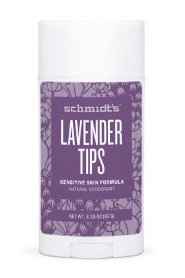 Vegan Deodorant Stick - Sensitive Skin - Lavender Tips - Schmidt's