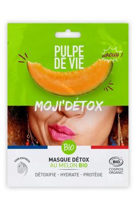 Masque Tissu Visage Bio Détox - Moji'Détox - Pulpe de Vie
