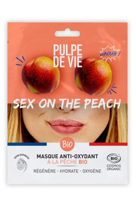 Masque Tissu Visage Bio Anti-Oxydant - Sex on the Peach - Pulpe de Vie