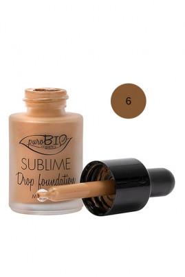 "Fond de Teint ""Sublime Drop"" Bio & Vegan - Teinte 6 - Purobio"