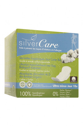 Organic Cotton 100% Day Ultra Thin Towels - SilverCare