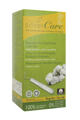 Organic Cotton Applicator Tampons - SilverCare