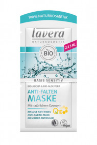 Masque Tissu Anti-Rides Q10 Vegan - Basis Sensitiv - Lavera
