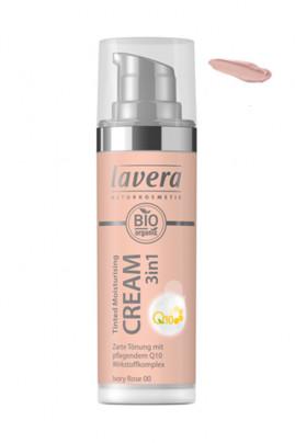 Crème Hydratante Teintée Vegan Q10 3 en 1 - 00 Ivory Rose - Lavera