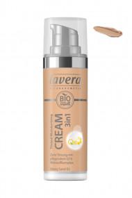 Crème Hydratante Teintée Vegan Q10 3 en 1 - 03 Honey Sand - Lavera