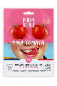 Masque Tissu Visage Bio [Im]perfection - Piña Tomata - Pulpe de Vie
