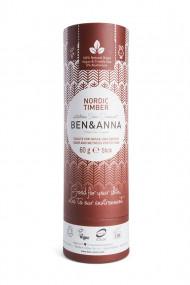 Cardboard Tube Deodorant - Nordic Timber - Ben & Anna