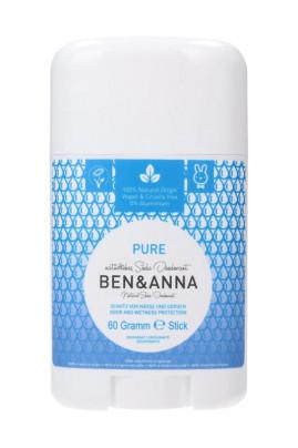 Natural Deodorant Stick - Pure - Ben & Anna