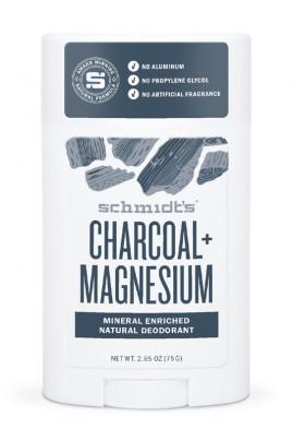 Vegan Deodorant Stick - Charcoal & Magnesium - Schmidt's