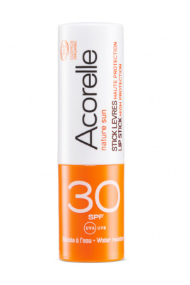 Organic High Protection Lip Stick SPF 30 - Acorelle