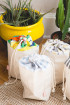 Bi-Material Cotton Pouch - Kufu