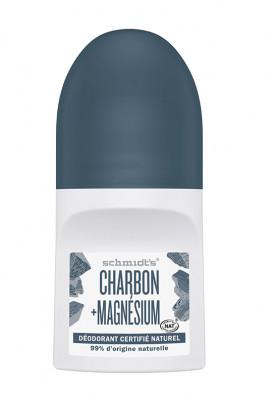 Déodorant Roll-On Vegan - Charbon & Magnésium - Schmidt's