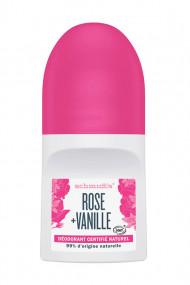 Roll-On Vegan Deodorant - Rose & Vanilla - Schmidt's
