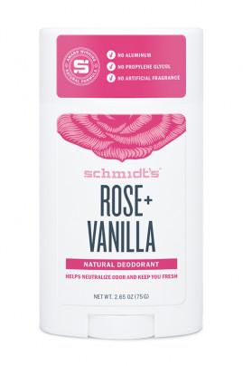Vegan Deodorant Stick - Rose & Vanilla - Schmidt's