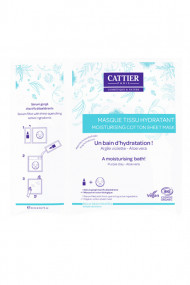Organic Moisturising Cotton Sheet Mask - Cattier