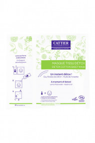 Organic Detox Cotton Sheet Mask - Cattier