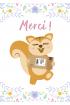 Greeting card : AyaNature - Greeting card - Merci