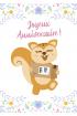 Greeting card : AyaNature - Greeting card - Joyeux Anniversaire