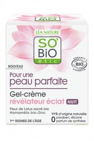 Gel-Crème Nuit Bio Révélateur Éclat - SO'BiO étic