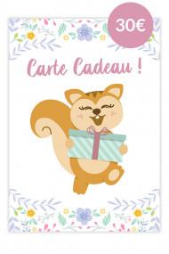 Carte Cadeau Ayanature 30€