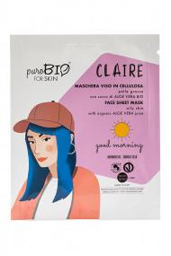 Organic & Vegan Oily Skin Fabric Mask - Claire - Purobio