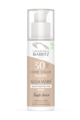 SPF30 Tinted Organic Face Sun Cream - Algamaris - Laboratoires de Biarritz