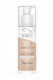 Crème Solaire Visage Bio Teintée SPF30 - Algamaris - Laboratoires de Biarritz