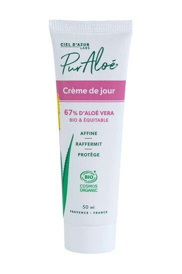 Crème de Jour Bio - 67% Aloe Vera - Pur Aloé