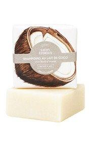 Shampoing Solide Bio Lait de Coco - Cheveux Secs - Savon Stories