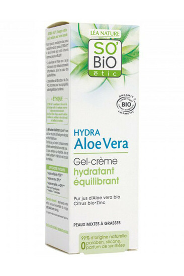 Crème Bio Hydratante Matifiante Aloe Vera SO'BiO étic