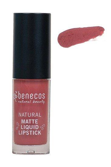 Rouge à Lèvres Liquide Mat Rosewood Romance - Benecos